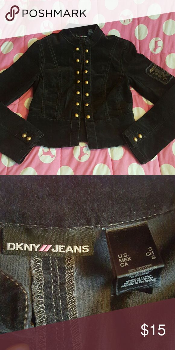 DKNY Jeans black military jacket size small Like new! DKNY Jeans black military jacket size small with gold buttons! DKNY jeans Jackets & Coats Utility Jackets