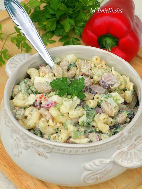 Domowa Cukierenka - Domowa Kuchnia: sałatka z brokułem i kabanosem