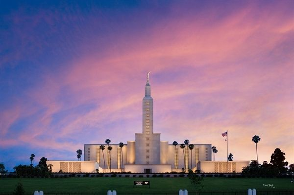 Robert A. Boyd Fine Art. Los Angeles California Temple - LDS - Mormon