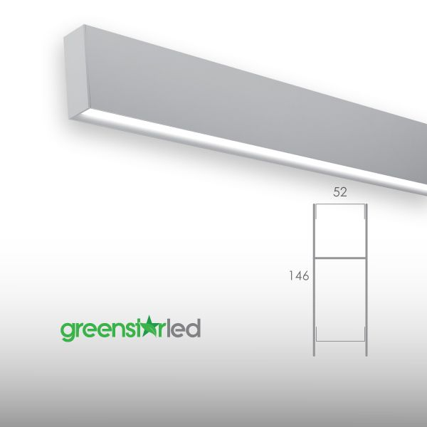 Type L2 - Austube 50 GS LED Beam - Direct/Indirect, Suspended