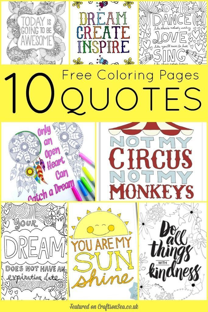 10 Free Coloring Pages For Adults Quotes
