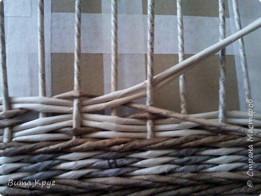 Мастер-класс Поделка изделие Плетение Узор ВиТТаС - Бумага газетная Трубочки бумажные фото 19