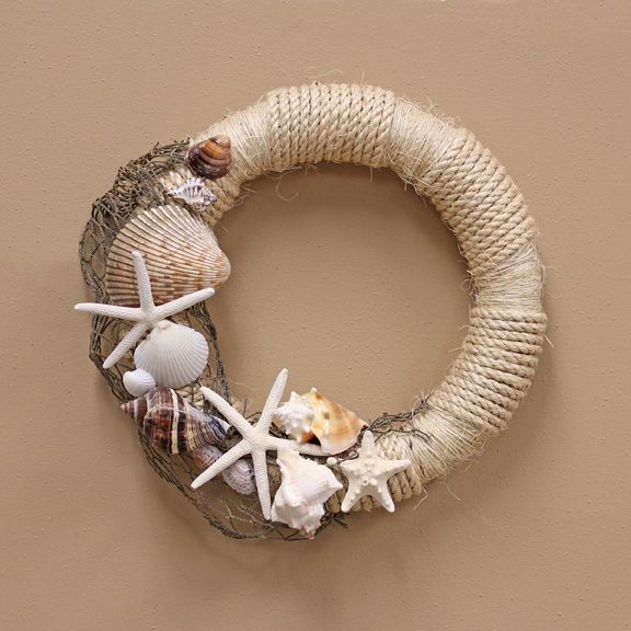 Seashell Wreath, i love it for the summer in florida !