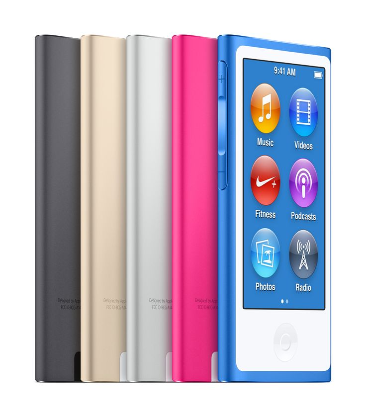 iPod nano - iPod nano comes in five stunning colors and is designed to provide hours of entertainment with maximum portability. Its 2.5-inch Multi-Touch display lets you see more of the music, photos, and videos you love. And it has a built-in FM radio as well as support for Fitness Walk and Run.