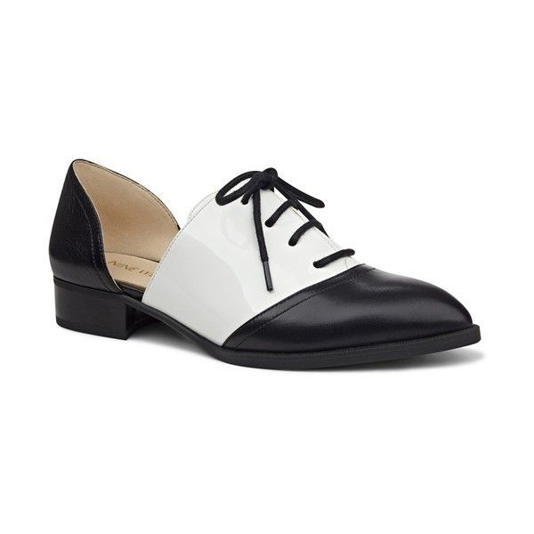 Nine West 'Nevie' d'Orsay Oxford (1,640 MXN) ❤ liked on Polyvore featuring shoes, oxfords, pointed toe shoes, oxford shoes, nine west, d orsay shoes and oxford lace up shoes