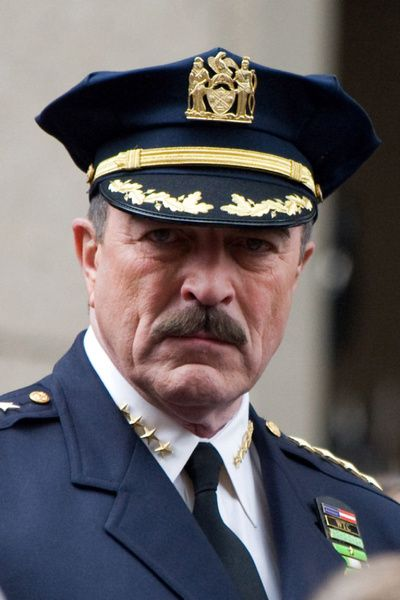 "Tom Selleck: Actor Tom Selleck on location filming the television pilot ""Reagan's Law"" in New York on April 13, 2010. The show aired as Blue Bloods. #Movember #moustache #mustache"