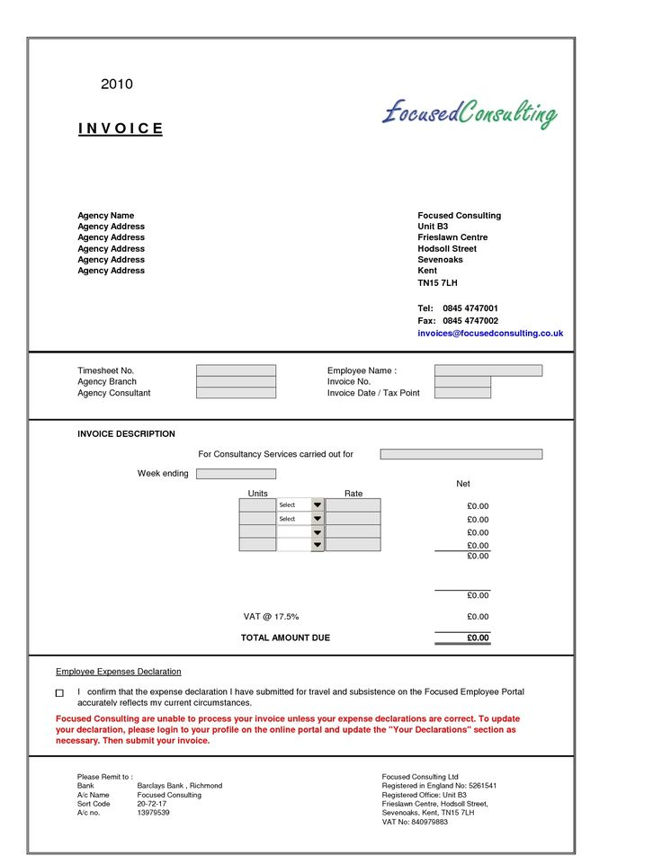 25 best ideas about Invoice format in excel – Sample Consulting Invoice