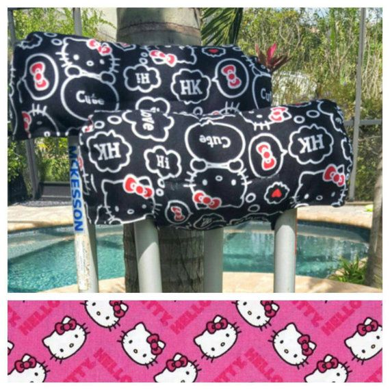Hello Kitty Crutch Covers Two Styles by FractureFashionz on Etsy