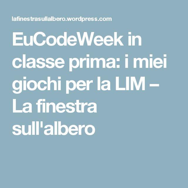 EuCodeWeek in classe prima: i miei giochi per la LIM – La finestra sull'albero