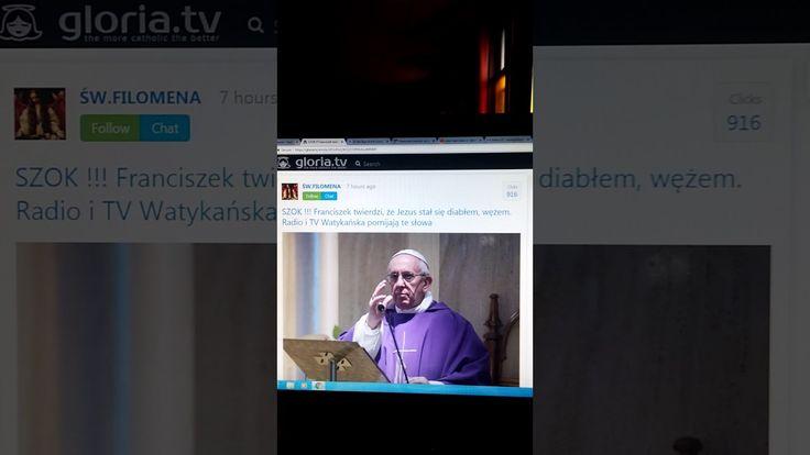 "Papiez Franciszek: ""Jezus jest diablem, wezem"". SZOK!!!"