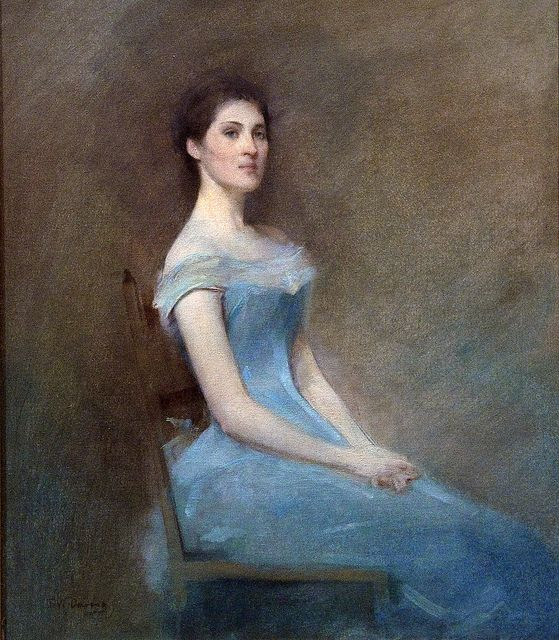 Thomas Wilmer Dewing, Girl in Blue, 1892.