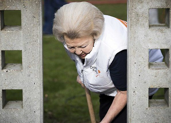 "On March 11, 2017, Princess Beatrix of The Netherlands does volunteer worked at Playground Monastery parking facilities under NLDoet in IJsselstein, The Netherlands. NL Doet (Formerly known as ""Make a Difference Day"") is a National Volunteer day organized by the Oranje Fonds."