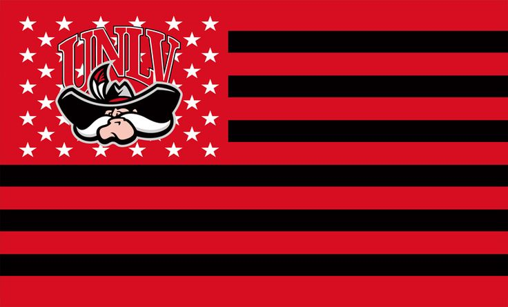 UNLV Rebels Flag USA With Stars and Stripes  Flag 3x5 ft custom Banner    show the love!