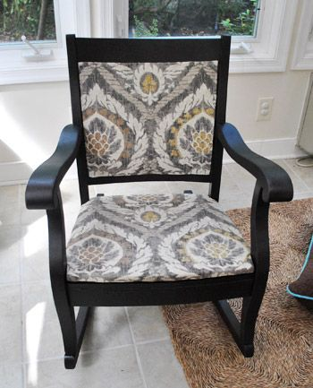 @Sherry @ Young House Love did such a great job reupholstering and painting this chair that i want to steal it.
