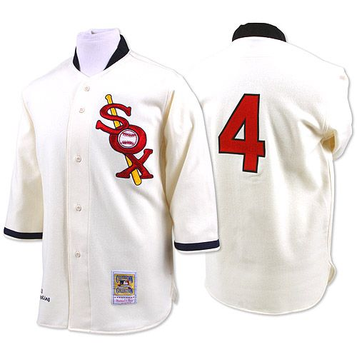 Cream Luke Appling Authentic Jersey: Mitchell And Ness Chicago White Sox  Throwback Men's MLB