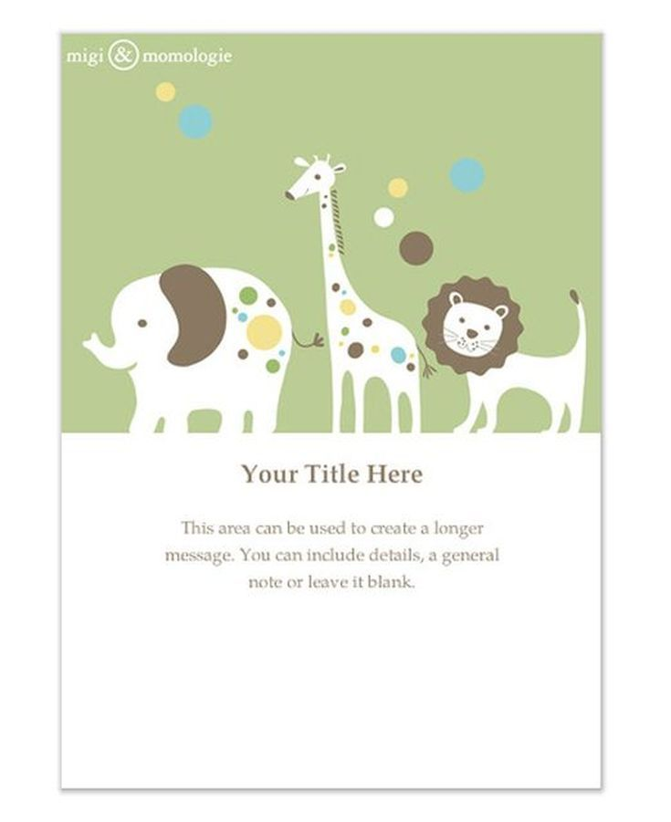 9 Free Online Baby Shower Invitations Your Guests Will Love: Green Animals by MiGi