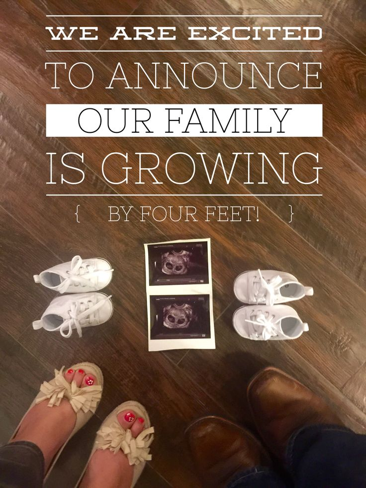 Our twin pregnancy announcement!