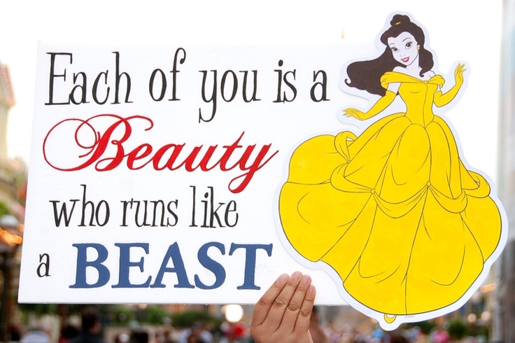One of the hundreds of signs from the sideline supporters at Disney's Princess Half Marathon 2012