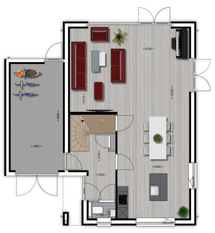 Moderne woning plattegrond google zoeken huizen for Plattegrond woning