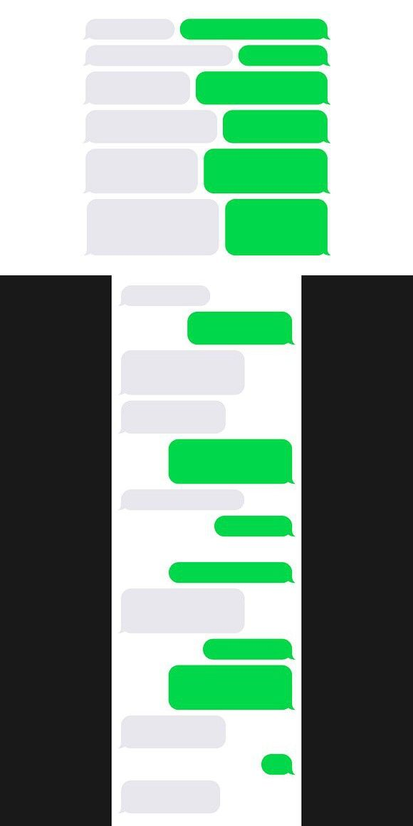 Phone Sms Chat Bubbles Constructor Iphone Texts Communication Icon Bubbles