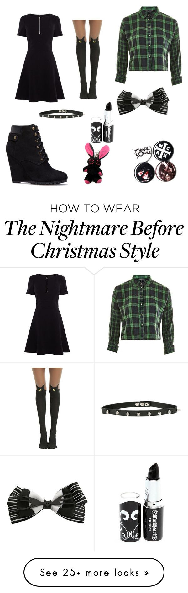 """""""Untitled #115"""" by thatbandgirl24 on Polyvore featuring Karen Millen, Topshop, Hot Topic, Disney and Blackheart"""