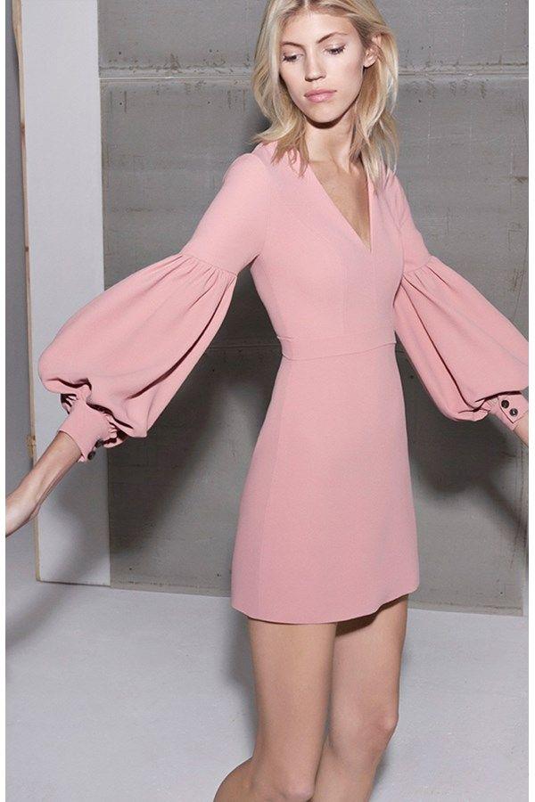 Ellena Dress Ash Pink | Alexis
