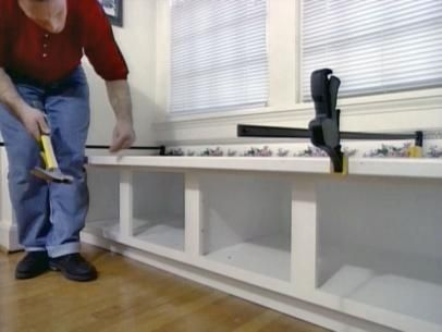 use clamps to hold tops of trim boards flush