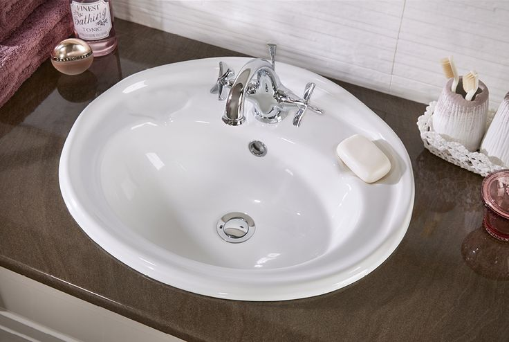 Quantum classical drop-in ceramic basin #fittedfurniture #bathroomfurniture #myutopia