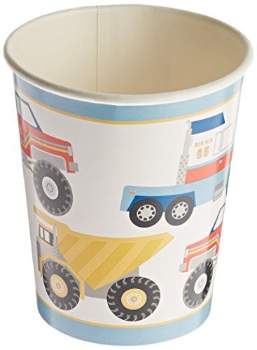 Meri Meri Big Rig Party Cups, 12-Pack, 2015 Amazon Top Rated Cups #Toy