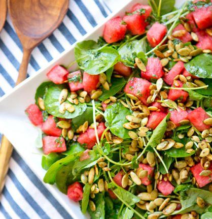 Watercress & Watermelon Salad