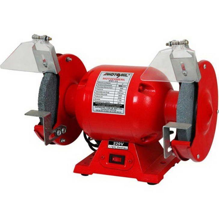 Moto Esmeril Motomil 360 Watts 1 2 Monofasico Com Protecao