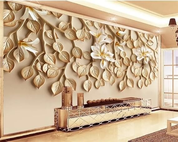 Best 3d Wall Designs For Fall Plaster Wall Art Custom Wallpaper 3d Wallpaper For Walls