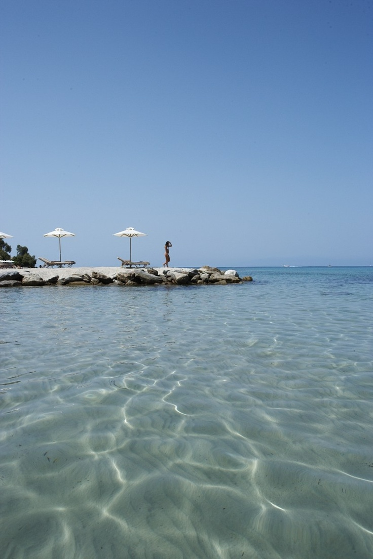 The beach of the Sani Beach Club at Sani Resort, Halkidiki, Greece