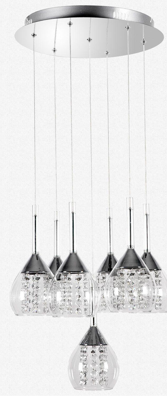 LED Hngelampe Hhenverstellbar Kronleuchte Hngeleuchte Deckenlampe Esszimmer Wohnzimmer TZ 4822 09A Kristall 20W Warmweiss