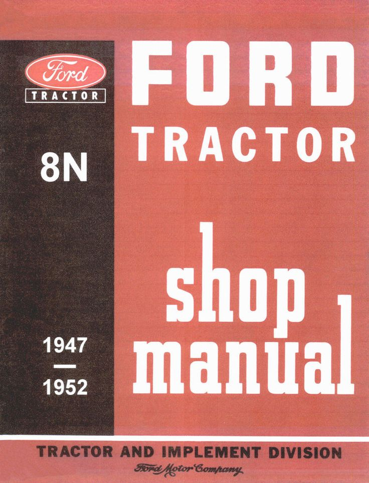 Tractor Ford 8n Service Manual Instruction Repair Workshop
