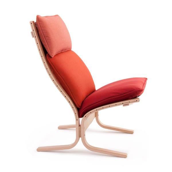 Siesta Trio lounge in red (3 fabrics) - 2015