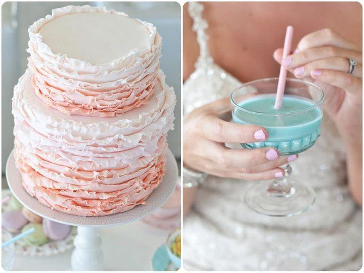 Yummy wedding cake with steri-stumpi drinks