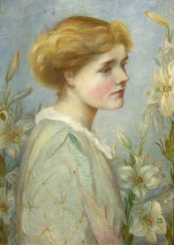This was painted by Mary Anne Hall of Ellen right after her separation from Watts.  Mary Anne was one of her closest friends and confidantes.