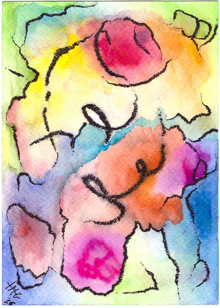 Waterlight 3. Dream: watercolor, paper