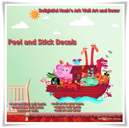 Delightful Noah's Ark Wall Art and Décor