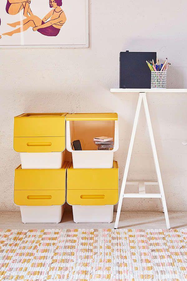 Slide View: 1: Stackable Storage Box Set