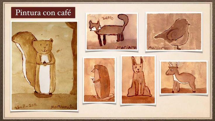 Tutorial de acuarela para niños. Pintura con café. Lea's piano with coffee