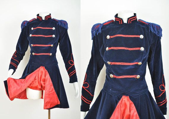 50s Majorette Uniform/ Marching Band Uniform by ItchyFlea on Etsy https://www.etsy.com/listing/238536103/50s-majorette-uniform-marching-band