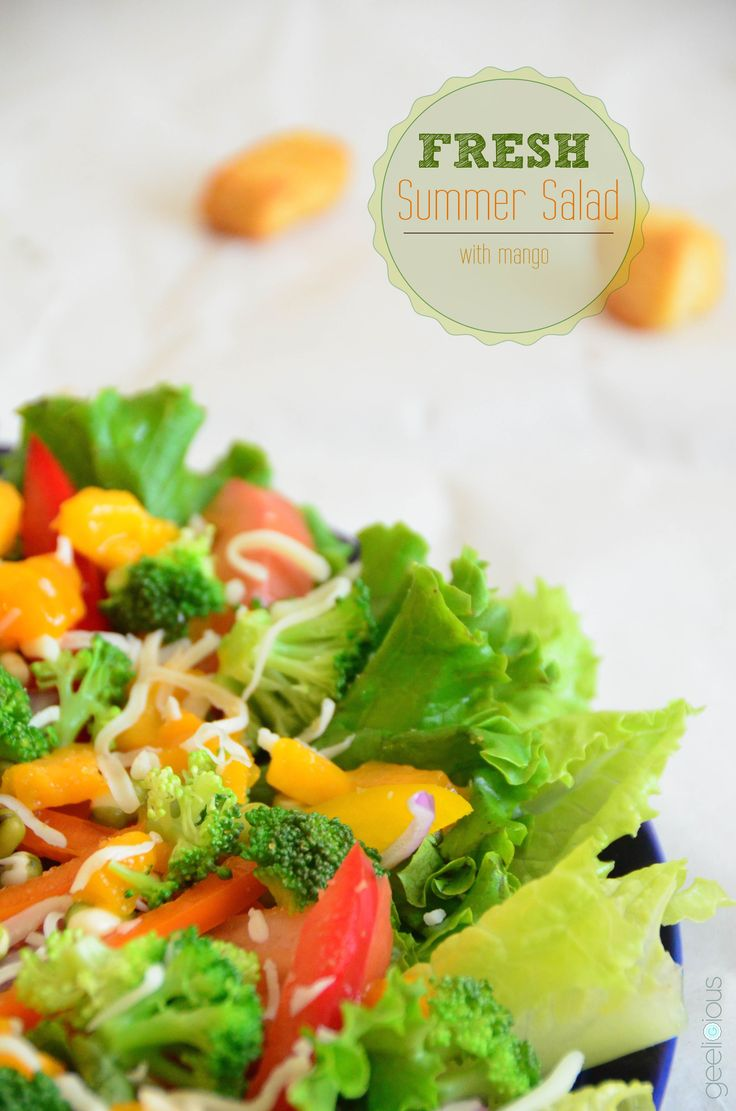 Fresh Summer Salad with Mango