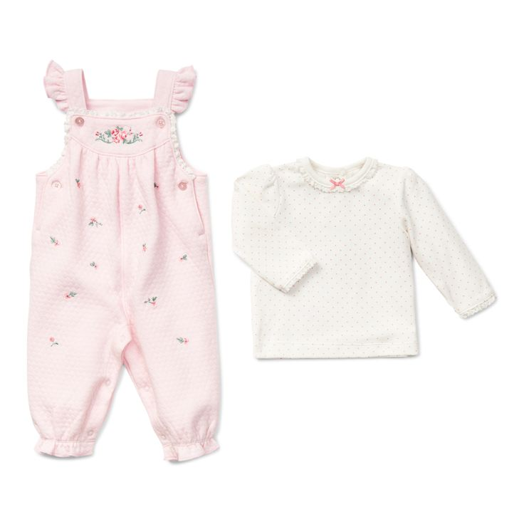 Little Me Boutique - Chateau Rose Overall Set, $42.00 (http://www.littleme.com/chateau-rose-overall-set/)