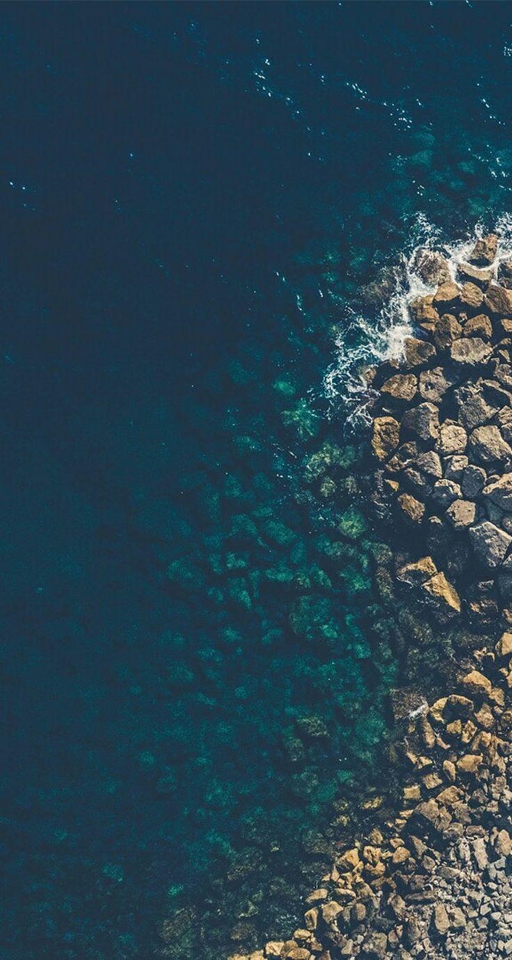 #ocean #blue #brown