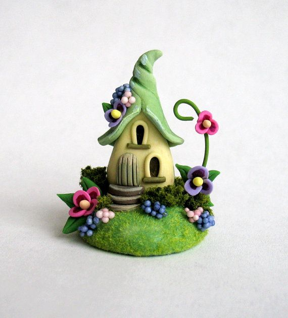 Miniature Charming Fairy Whimsy House OOAK by C. Rohal