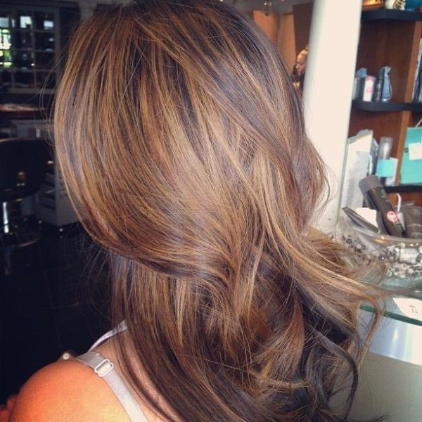 Love this hair color: caramel hi lights with mocha chocolata low lights by suzette