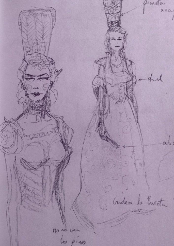 Countess of Bureta, sketch
