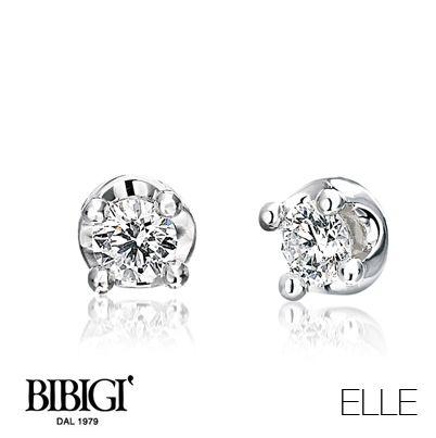 #Bibigi | Collezione #Elle | Orecchini in oro bianco e diamanti.